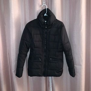 New York & company black puffer jacket